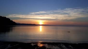Golfito, Osa peninsula, Costarica, sunset, sea