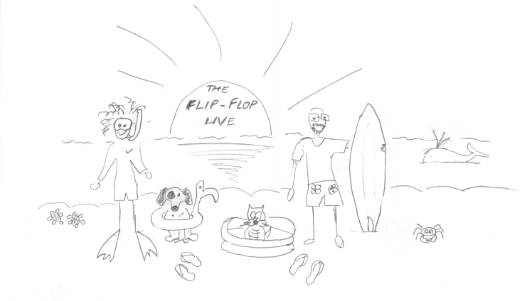 The flipflop life, drawing Cris, hires
